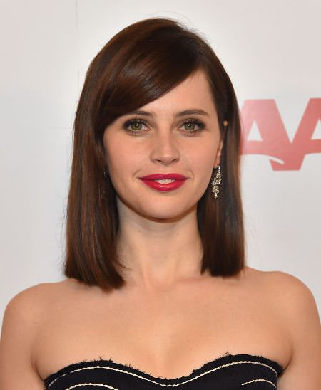 straight and sleek with deep side bangs hairstyles for short hair