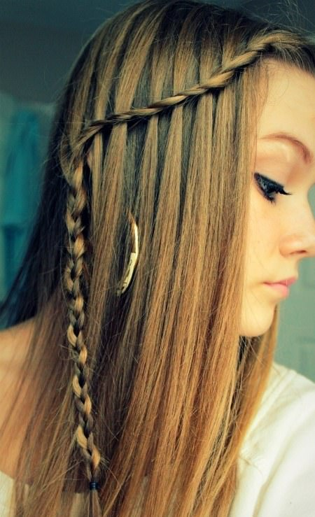straight pale braid hairstyles for straight hair