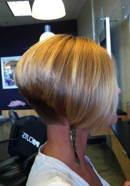 tampered inverted bob haircut