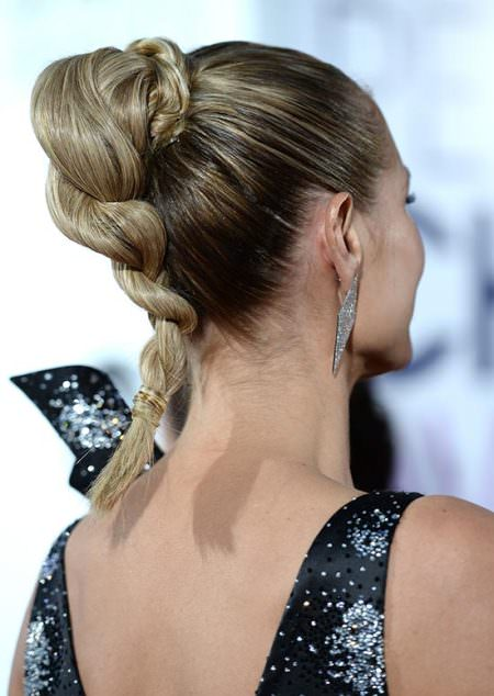 twisted braid with braided wrap hairstyles for short hair