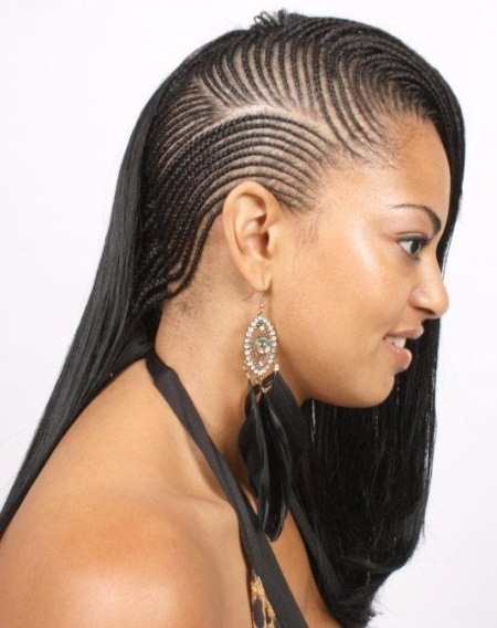 twisted cornrow hairstyles for straight hair