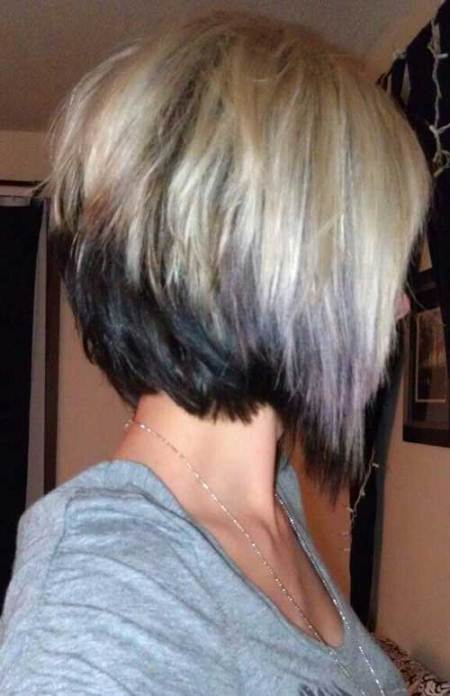 two tone inverted bob haircut