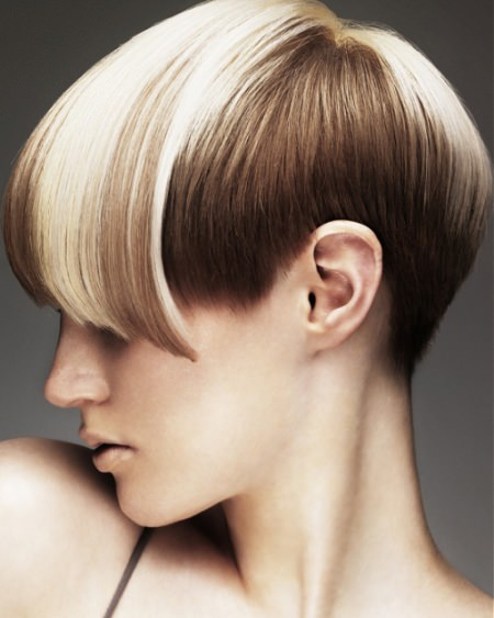 two tone short hairstyles for thick hair