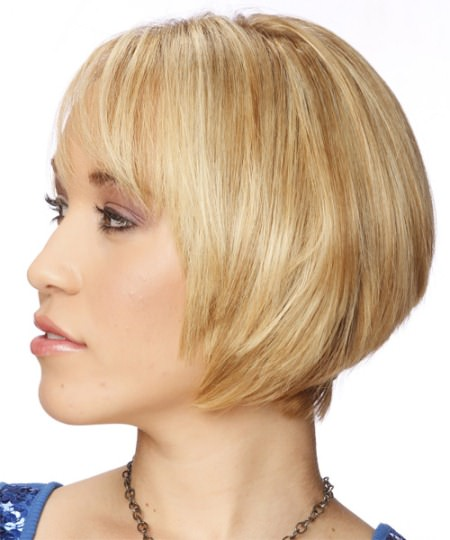 ultra short bob with concave layers short straight hairstyles
