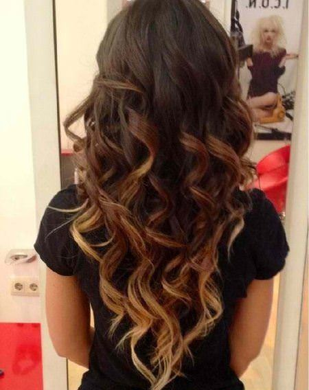 understaded color stylish ombre straight hair
