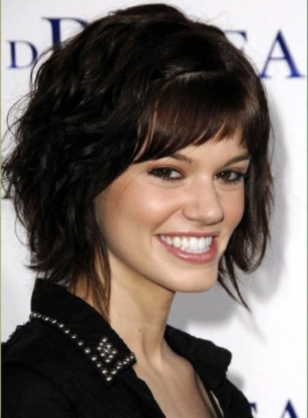 wavy hair with bangs hairstyles for thick hair