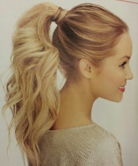 wavy ponytail hairstyles for straight hair
