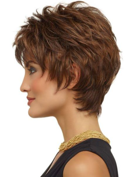 wispy layers short hairstyles for fine hair