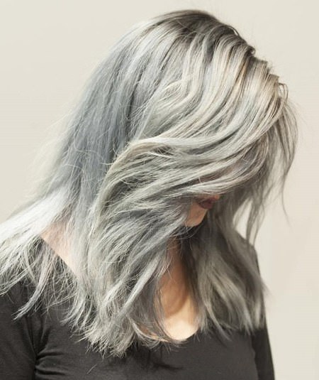Artic layers gray hair trend