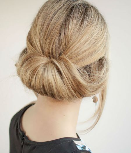 Chic low Rolled Bun Formal and classy bun hairstyles