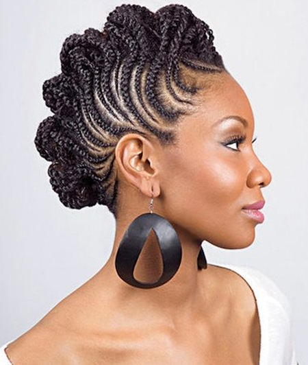 Classy updo for black hair natural braided hairstyles