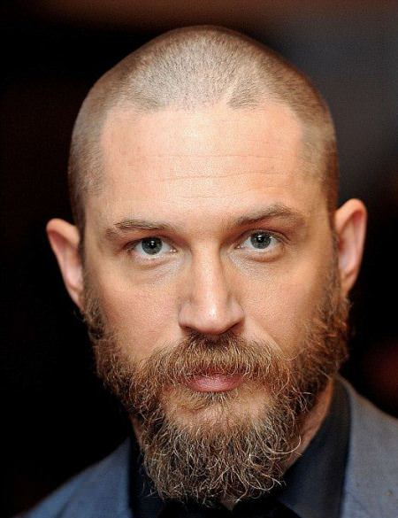 Crew cut with mustache and goatee hairstyles for balding men