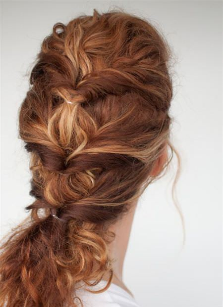 Curly twist Quick hair ideas for thick hair