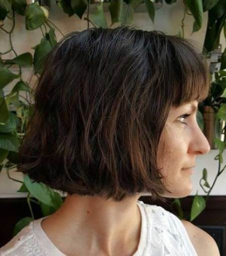 Dark and moody bob with bangs short fringe Hairstyles