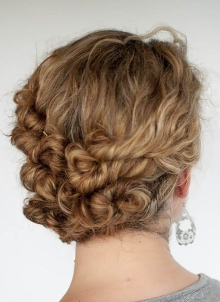 Easy and twist updo updos for curly hair