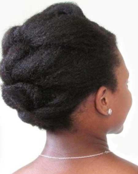 Easy knotted updos for natural hair