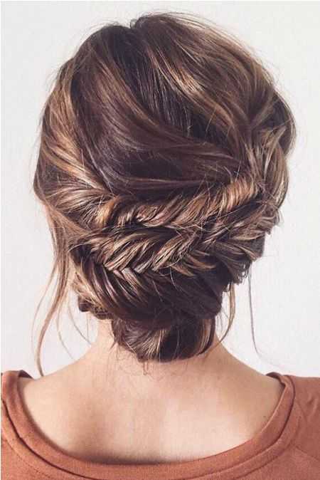 Fishtail updo Formal and classy bun hairstyles