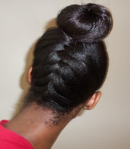 French braided updos for natural hair