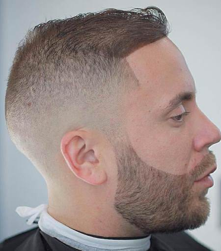 Gradient crew cut hairstyles for balding men