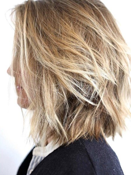Heat free layered hairstyle medium length hairstyles for women