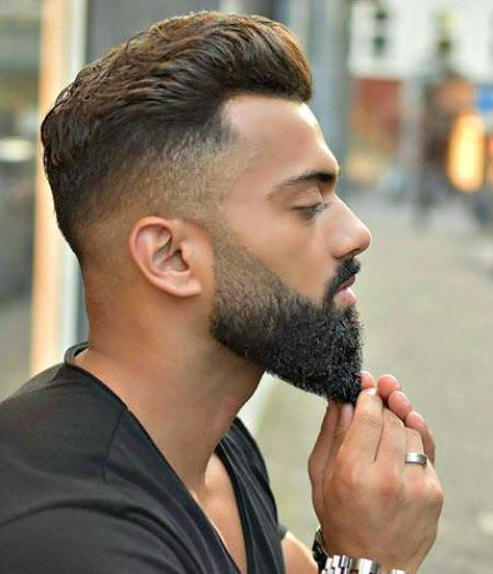 High fade with beard hairstyles for balding men