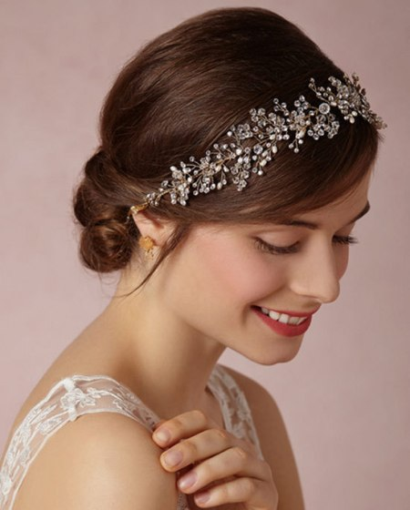 Jeweled hair Formal and classy bun hairstyles
