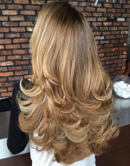 Long hair with flipp ends haircuts for women