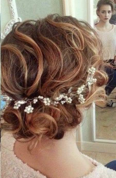 Loose curly messy updos for curly hair