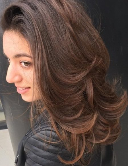 Multi layered mix hairstyle long haircuts for women