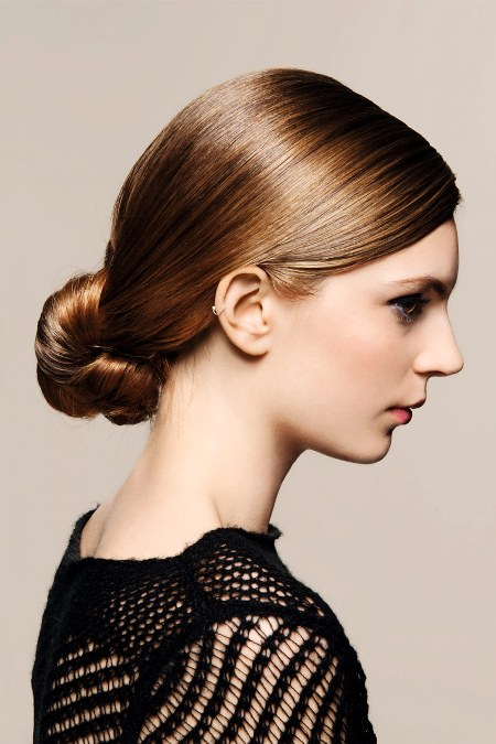 Perfect Low knot Formal and classy bun hairstyles