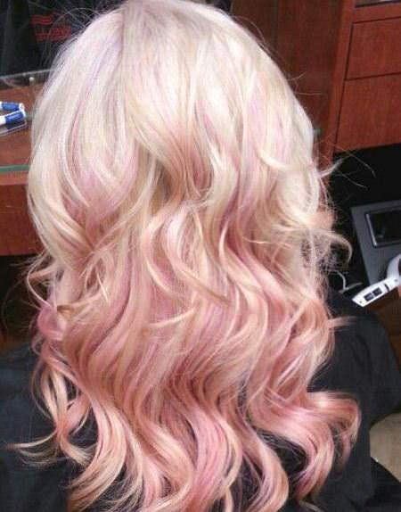 Pretty pink medium length hairstyles for women