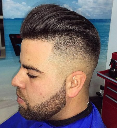 Shaved sides blowback Shaved Sides Hairstyles and Haircuts for Men