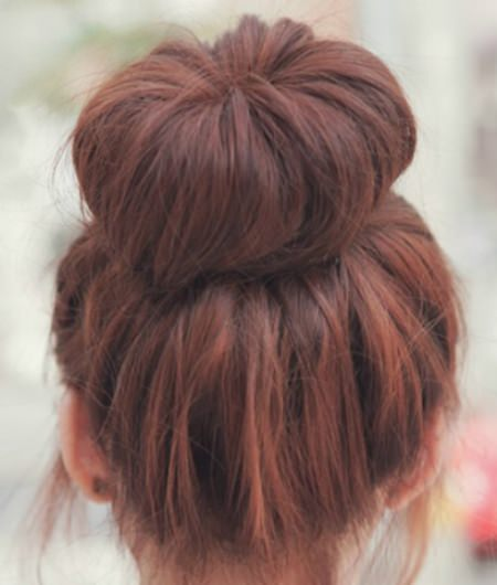 Simple quick updos for curly hair