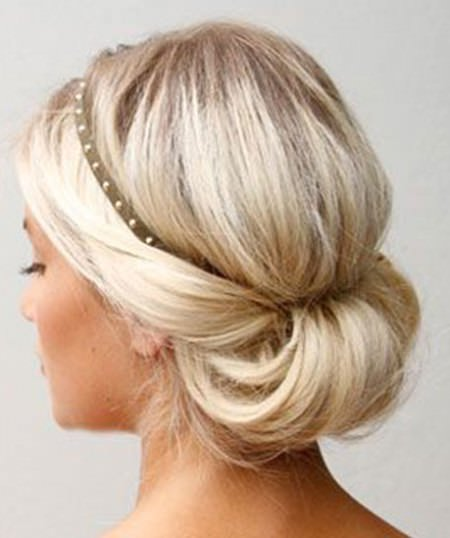 Simple twist updo updos for curly hair