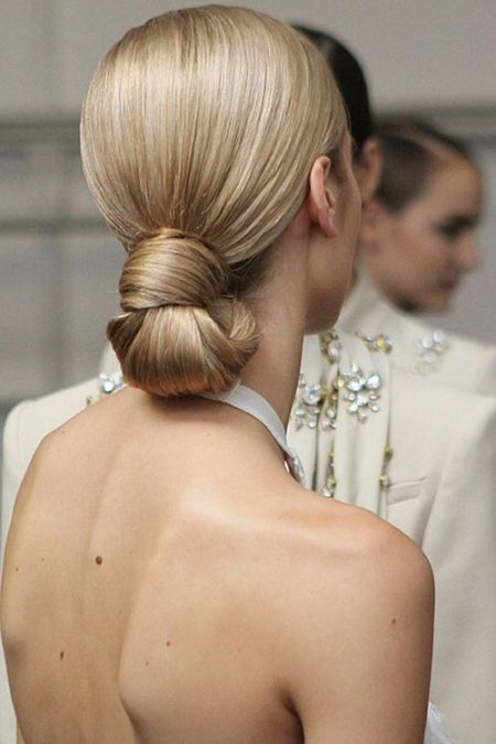 Sleek and chic chignon Formal and classy bun hairstyles