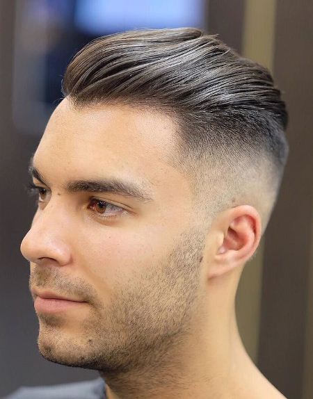 Slicked back hairstyles for balding men