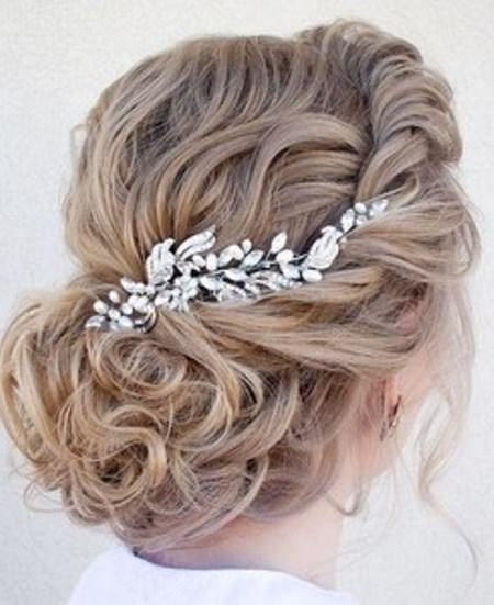 Soft curly updos for long hair