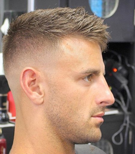 Spiky crew cut hairstyles for balding men