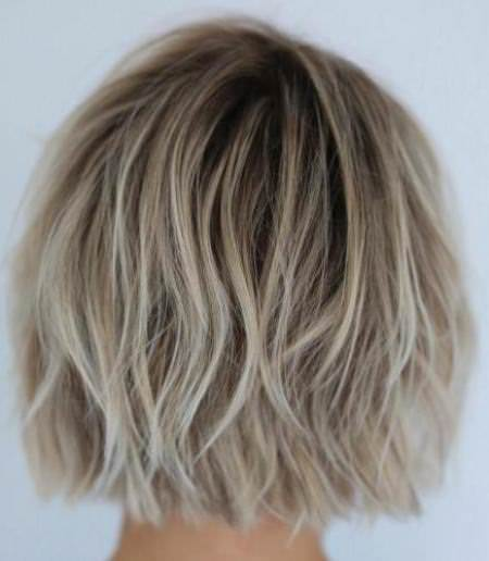 Straight cut bob with layers choppy bob hairstyles