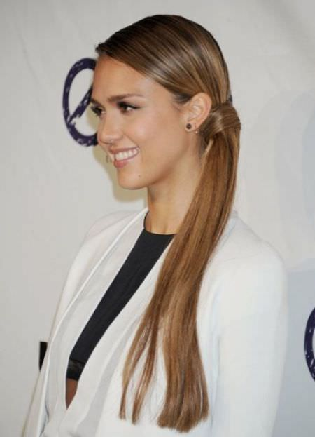 Super Long Knotted Side Pony side ponytail hairstyles