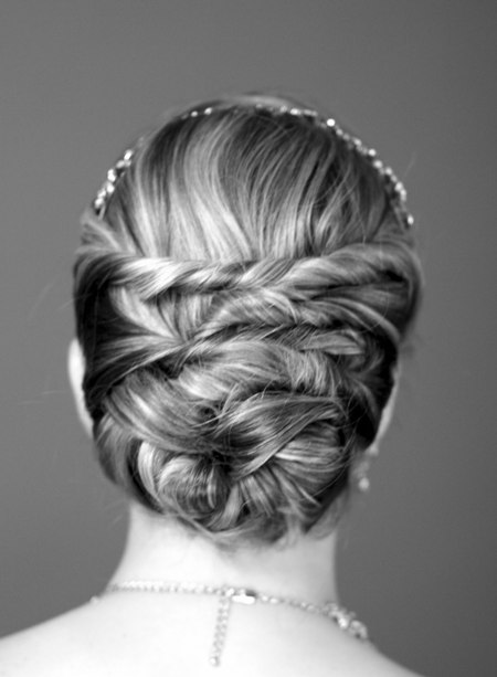 Twisted sister Formal and classy bun hairstyles