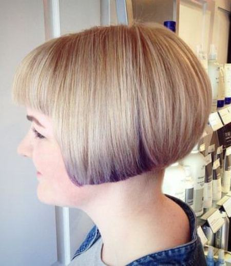 Two Tone short bob with bangs short fringe Hairstyles