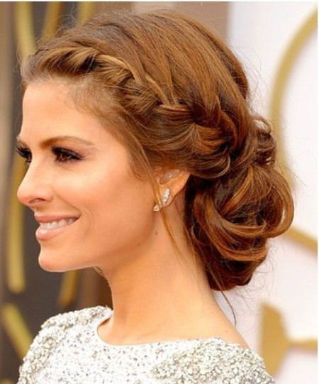 Updo for curly hair with side braid updos for curly hair