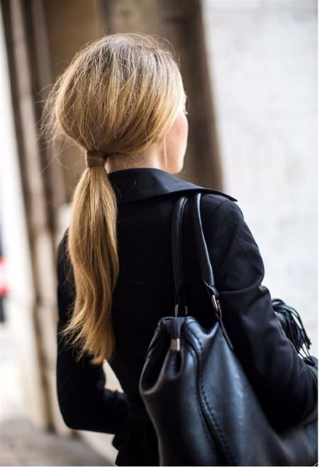 Wrapped ponytail Quick hair ideas for thick hair