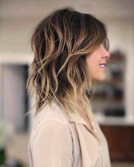 balayage for shoulder length shag medium length hairstyles for women