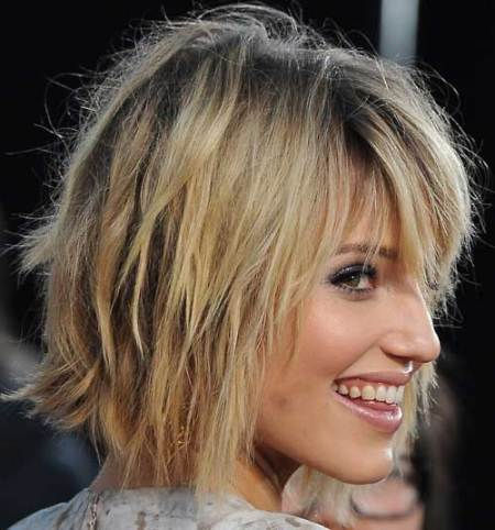 blonde bob with choppy ends short blonde hairstyles
