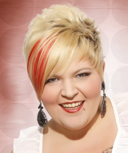 blonde hairstyle with a splash of pink short blonde hairstyles