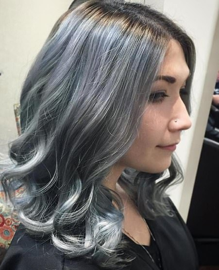 blue steal waves gray hair trend