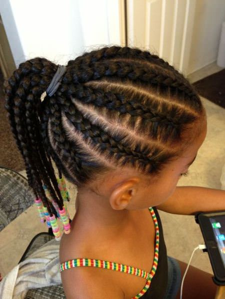 braided ponytail with cornrows braidstyles for girls