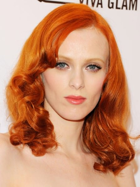 bright copper shades of red hair for women